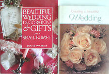 2 Book Lot Wedding Decorations, Gifts, Theme Ideas