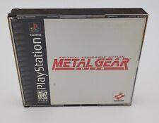 Metal Gear Solid Playstation PS1 Complete w/ Manual EUC Black Label
