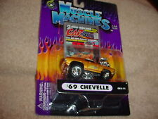 MUSCLE MACHINES CO2-11 '69 CHEVELLE GOLD CARTOONS FREE USA SHIPPING