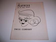 1952 ALVIN THEATRE PLAYBILL - TWO'S COMPANY - BETTE DAVIS DAVID BURNS H SHERMAN