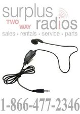 KENWOOD OEM KHS-33 EARBUD HEADSET WITH IN-LINE PTT FOR PKT-23 PORTABLE RADIOS