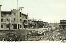 5x7 photo SHELTON,WASHINGTON 1912  LOOKING DOWN R.R. AVE OLD HOTEL 1st. STREET