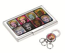Andy Warhol by Troika Keyring & Card Case SET 10th Ltd Edition MARILYN MONROE