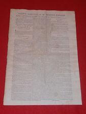 JOURNAL GAZETTE NATIONALE OU LE MONITEUR UNIVERSEL N° 295 DIM 21 OCTOBRE 1792