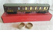 HORNBY DUBLO 4037 PULLMAN CAR BRAKE 2ND RARE LIGHT CREAM COLOURED CRESTS EXC BXD