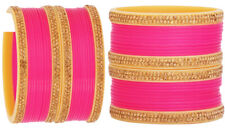 Indian Traditional Bangles Set Pink Bollywood Bangles Wedding Costume Jewelry