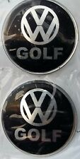 4x (silicone)VW GOLF Logo Rim Center Stickers 60mm Wheel Decal Replacement