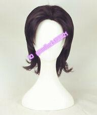 Aladdin cosplay wig men short black brown curly hair wig + a wig cap