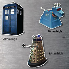 Dr Who Style 3 pack stickers  Tardis, K9, Dalek water & fade proof 7 yr vinyl