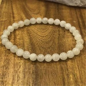 Fashion Moonstone Beads Handmade Bracelet lady gift Wrist Mala Wristband Prayer