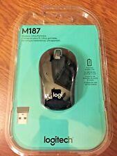 NEW IN BOX Logitech M187 Wireless Mini Mouse Black FREE SHIPPING