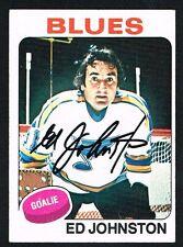 Ed Johnston #185 signed autograph auto 1975-76 Topps Hockey Trading Card