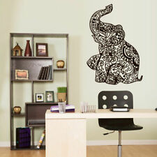 Wall Vinyl Sticker Bedroom Decal Ganesh Om Elephant Tattoo Mandala Tribal Z3161