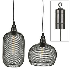 Industrial Style Mesh Hanging Lamp Warm LED Indoor Outdoor Garden Battery Light