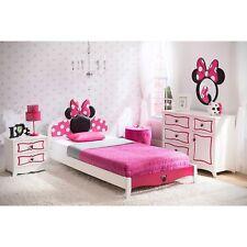 Camas Para Niños Minnie Mouse Set 4-Piece Cama Twin + Biuro + Mesa + Espejo