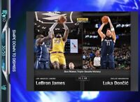 DIGITAL CARD NBA Dunk - Lebron James & Luka Doncic Triple-Double Serial 30/50 SP