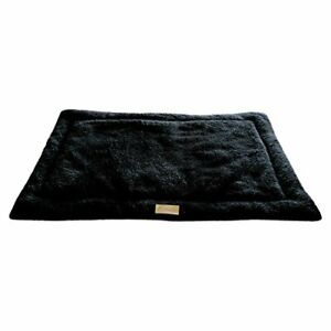 """Ellie-Bo Sherpa Fleece Mat Bed in Black - Fits 48"""" Cages and Crates BEST IN UK#1"""
