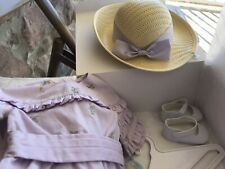 NIB American Girl Doll Rebecca Rebecca's Summer Outfit - Dress Hat Shoes Hanger