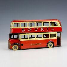 Tri-Ang Minic Toys  - Pre-War Tinplate Clockwork Double Decker Bus