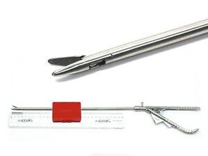 Laparoscopic Needle Holder Driver V-Type Straight Jaw Tip 5mm x 330mm ADDLER