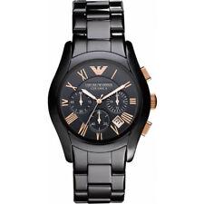 New Emporio Armani AR1410 Ceramica Chronograph Analog Black Men's Wrist Watch