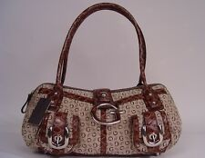 NEW Guess Primary Satchel Bag Handbag, Mocha / Brown