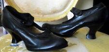 Vintage 1910s Black Leather Shoes Size 5 Edwardian