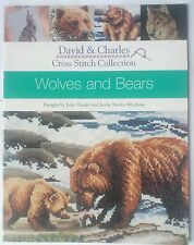 WOLVES & BEARS CROSS STITCH 4 PATTERNS CHART COYOTE WOLF BROWN BEAR COLOURED