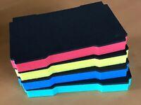 Koffereinlage Hartschaum f. Tanos FESTOOL MINI-systainer T-Loc, 4 Farben 30mm