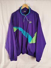 Nike Tracksuit Top Jacket XXL Vintage 80s 90s Retro Shell Windbreaker Spellout
