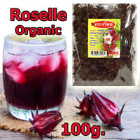 100g Organic Dried Roselle/Rose Mallow/Hibiscus Flowers Tea100%Natural Thai Herb