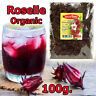 100g Organic Dried Roselle/Rose Mallow/Hibiscus Flowers Tea 100%Natural Thai Her