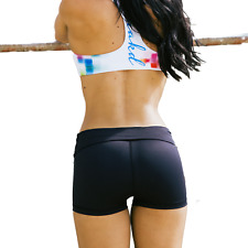 NAKD BOOTY SPORTS SHORTS, WOMENS FITNESS TRAINING GYM WORKOUT RUNNING LIFTING