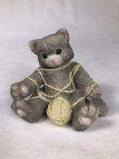 Vintage 1994 Priscilla Hillman Enesco Miniature Cat Figurine 112429 Playful