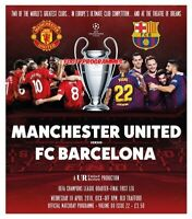 Manchester United v Barcelona Champions League 2019  new programme