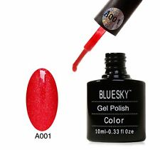 Bluesky UV LED Soak Off Nail Polish A01 Red Glitter 10ml