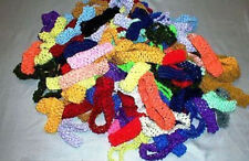 1' INCH CROCHET HEADBAND ASSORTED, SETS OF 50 PCS, GREAT ASSORTMENT OF COLORS
