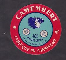Ancienne étiquette Fromage France BN30263 Camembert Champagne Vache