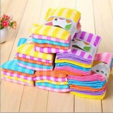 1X Kitchen Dining Striped Wash Towel Square Microfiber Dishcloths Peachy_Durable