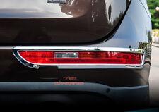 Chrome Rear Bumper Fog Light lamp frame cover trim AUDI Q5 2009-2016