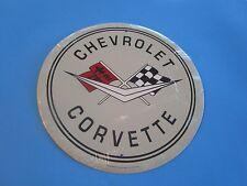 tin auto classic car chevy chevrolet gm dealer emblem logo corvette garage rd8