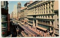 Market Street View San Francisco California Postcard CA 1950's Cars Trolley Bus