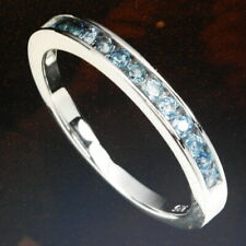 Beautiful Blue Sapphire Diamond Cut Africa 925 Sterling Silver Ring Size 6.5