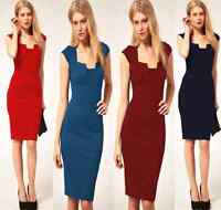 DS-B Ladies Women's Stylish Bodycon Business Cocktail Evening Party Dress