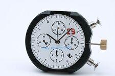 Clone 7753 automatic WHITE date H4.5 chronograph movement ETA Valjoux replacemet