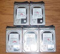 """(Lot of 5) Hitachi 3TB SAS 3.5"""" Hard Drives w/Tray IBM System X 90Y8578"""