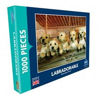 LABRADORABLE 1000 PIECE  JIGSAW PUZZLE,THE RSPCA COLLECTION LABRADOR PUPPY DOGS