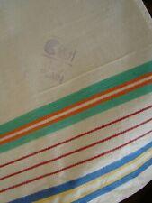 More details for 3 rare antique vintage cc41 linen tea towels unused deadstock utility ww2 aga