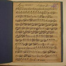 HAYDN symphony 13 , flute part , antique music manuscript