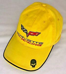 C6 Corvette Racing Baseball / Golf Hat Cap Yellow With Jake